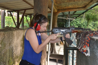 Firing range at Cu Chi Tunnels
