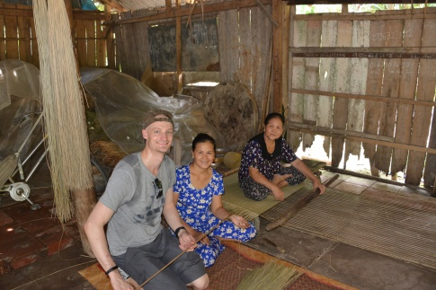 Basket weaving in the Mekong Delta