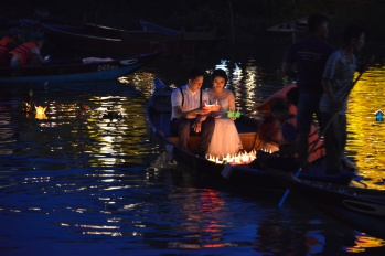 Couple Floating Candles