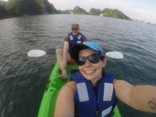 Kayaking Halong Bay
