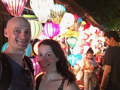 Exploring markets at night in Hoi An